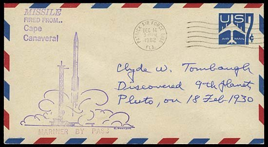 3: c.1960-90s CLYDE TOMBAUGH SIGNED COVER GROUP