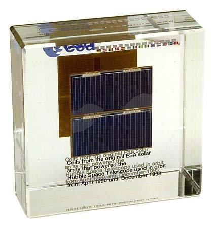 7: 1990 FLOWN SOLAR CELLS FROM ORIGINAL HUBBLE