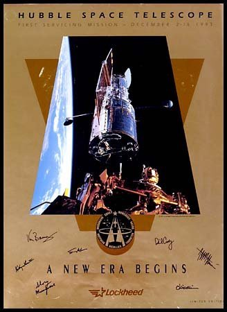 9: 1993 ASTRONOMY AUTOGRAPHED HUBBLE POSTER
