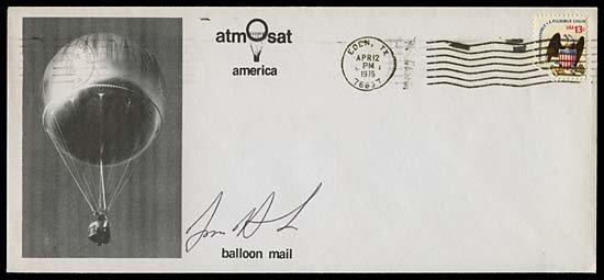 12: 1976  'ATMOSAT AMERICA' BALLOON MAIL