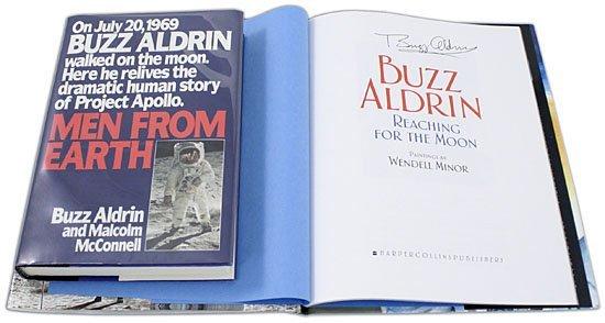 627: 2005 BUZZ ALDRIN AUTOGRAPHED BOOKS (x2)