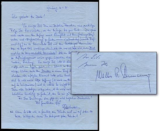 635: 1971 WALTER DORNBERGER SIGNED ALS