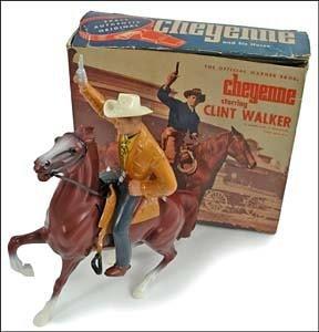 6: CHEYENNE ON HORSEBACK, TOY W/BOX