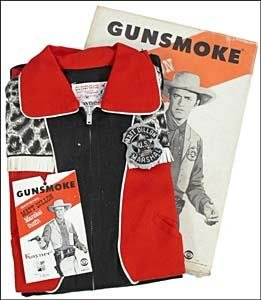 21: GUNSMOKE BOXED OUTFIT WITH MARSHALL BADGE