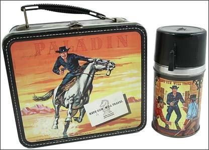 """24: HAVE GUN, WILL TRAVEL (PALADIN) LUNCHBOX/THERMOS"""""""
