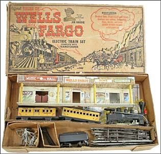 """57: TALES OF WELLS FARGO ELECTRIC TRAIN SET, BOXED"""""""