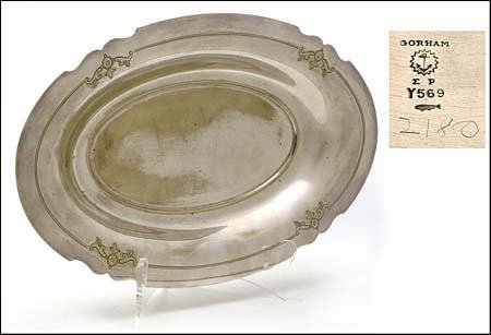 331: LARGE ZEPPELIN SERVING TRAY