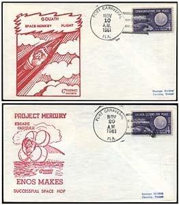 341: MERCURY PROGRAM 'MONKEY FLIGHT' COVERS