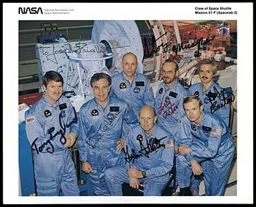 544: STS-51/CREW SIGNED LITHO