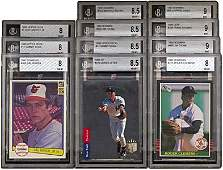 1013: GRADED STAR ROOKIE CARDS (x11) JETER,CLEMENS,SOSA
