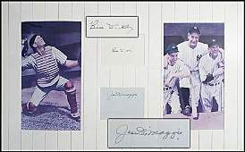 1237: DIMAGGIO & DICKEY SIGNED CUTS W/ MATTED PHOTOS
