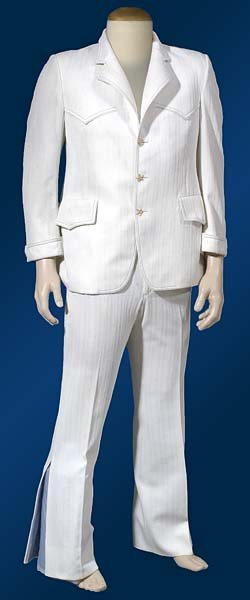 1: 1969 ELVIS' PERSONAL 2-PIECE WHITE DINNER SUIT