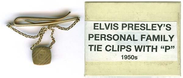 6: 1950s ELVIS' PERSONAL FAMILY TIE CLIP