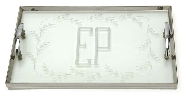 9: c.1956 SERVING TRAY FROM AUDUBON HOUSE