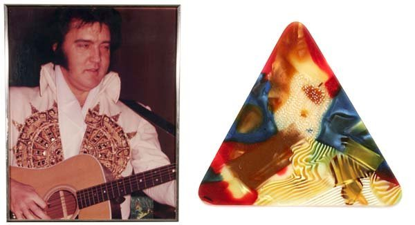15: ELVIS CONCERT USED MULTI-COLORED GUITAR PICK