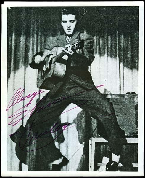 22: 1956 ELVIS PRESLEY SIGNED PHOTO