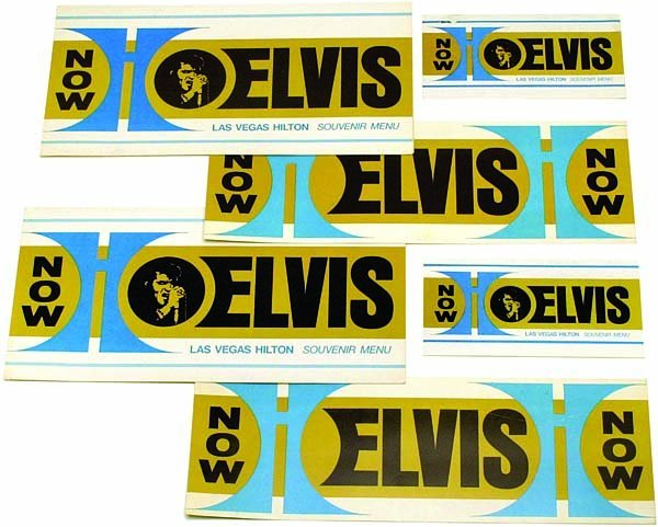 795: 1972 ORIGINAL 'ELVIS NOW' MENUS