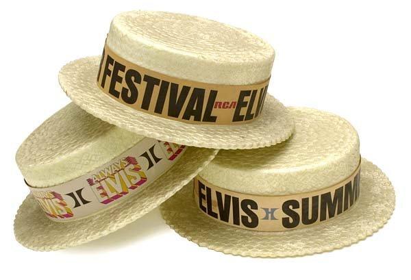 804: 1970s ELVIS LAS VEGAS CONCERT STYROFOAM HATS