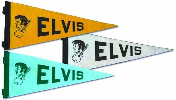 805: 1970s LAS VEGAS ELVIS TRIANGULAR PENNANTS