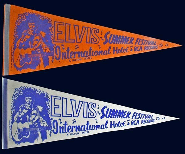 806: 1970s ELVIS SUMMER FESTIVAL HOTEL PENNANT