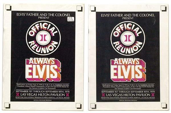 809: 1978 ALWAYS ELVIS OFFICIAL SOUVENIR PROGRAM
