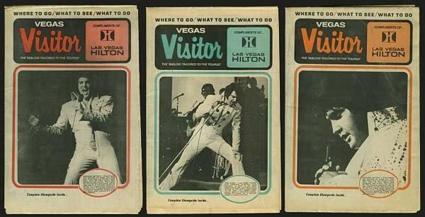 811: 1974-75 HILTON 'VEGAS VISITOR' ELVIS TABLOIDS