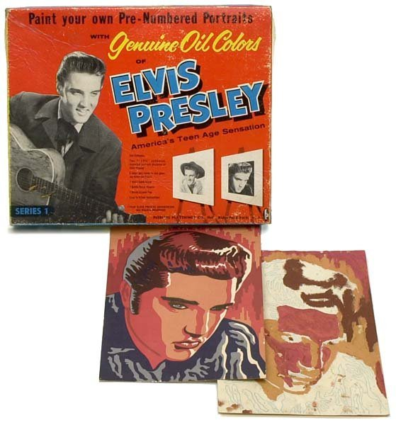 1044: 1956-62 ELVIS COLORING & PAINTING COLLECTIBLES