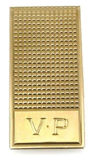 1185: 1970s VERNON PRESLEY'S ENGRAVED GOLD MONEY CLIP