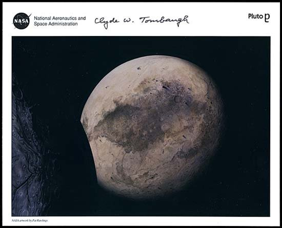 579: 1994 CLYDE W. TOMBAUGH SIGNED LITHO