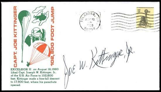 582: 1960 JOE KITTINGER AUTOGRAPH