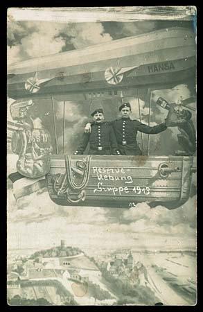 584: c.1913 ZEPPELIN AIRSHIP COMIC STUDIO CARDS