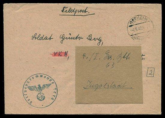 596: 1942 GERMANY PEENEMUNDE FELDPOST CORRESPONDENCE