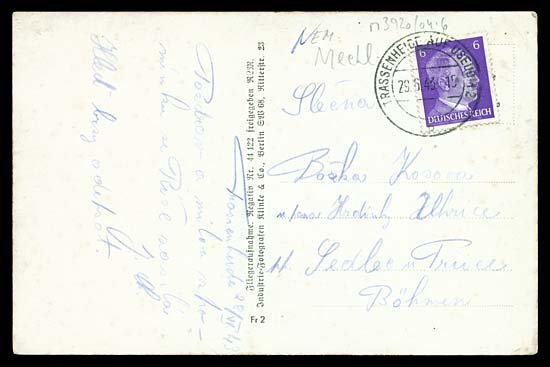 600: 1943 TWO TRASSENHEIDE PICTURE POSTCARDS