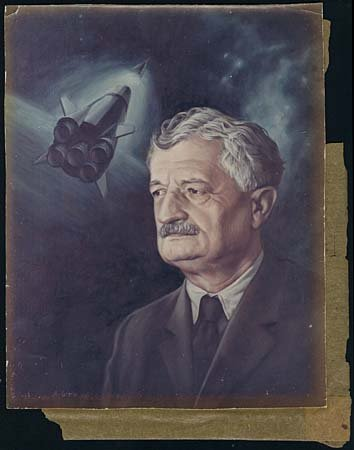 601: c.1950 GERMANY HERMANN OBERTH OLD COLOR PHOTO