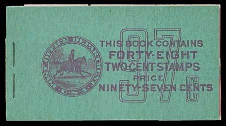 1053: 1938 USA #BK94 2¢ PREXIE, 97¢ BOOKLET