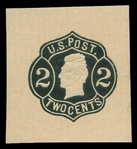 1067: 1864 USA #W51 JACKSON 2¢ BLACK ON BUFF