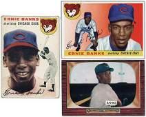 2746: 1954-75 TOPPS, BOWMAN ERNIE BANKS CARDS W/RC x33