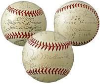 2758: 1934 ST LOUIS CARDINALS TEAM SIGNED BALL