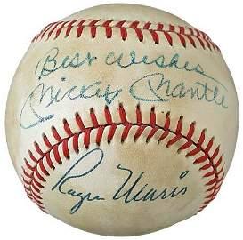 2763: MICKEY MANTLE & ROGER MARIS SIGNED BASEBALL