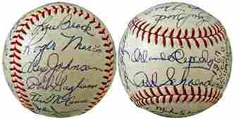 2764: 1967 ST LOUIS CARDINALS SIGNED TEAM BALL W/MARIS