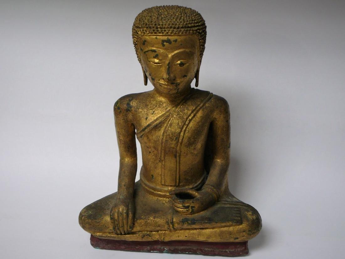 Gilt Bronze Antique Thai Buddha Statue