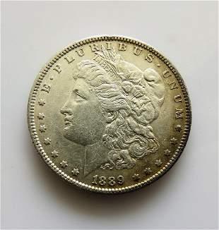 1889 P Toned original XFAU Morgan Silver Dollar