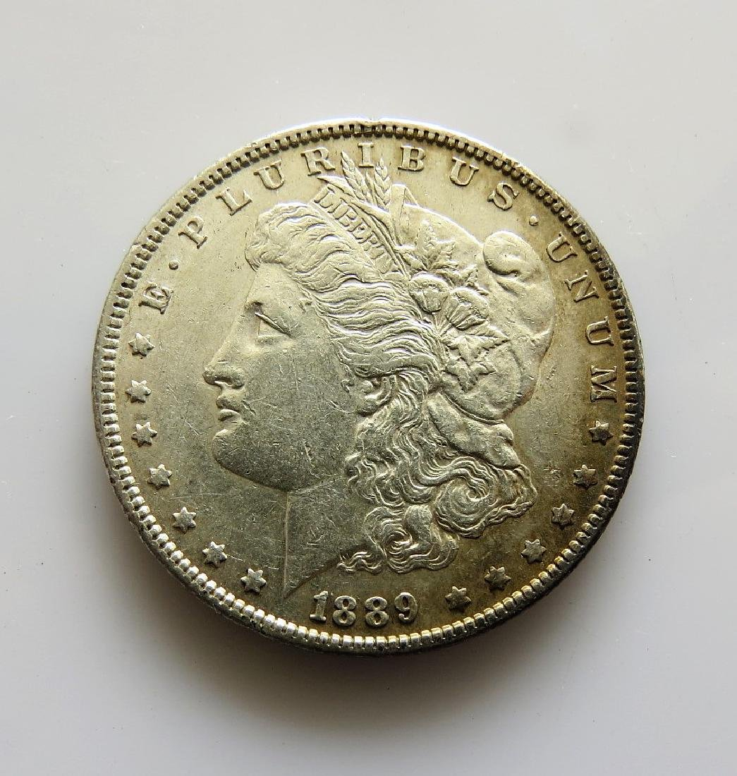 1889 P Toned original XF-AU Morgan Silver Dollar