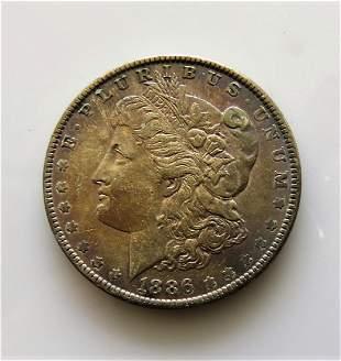 1886 Morgan Dollar with Monster Toning MS63