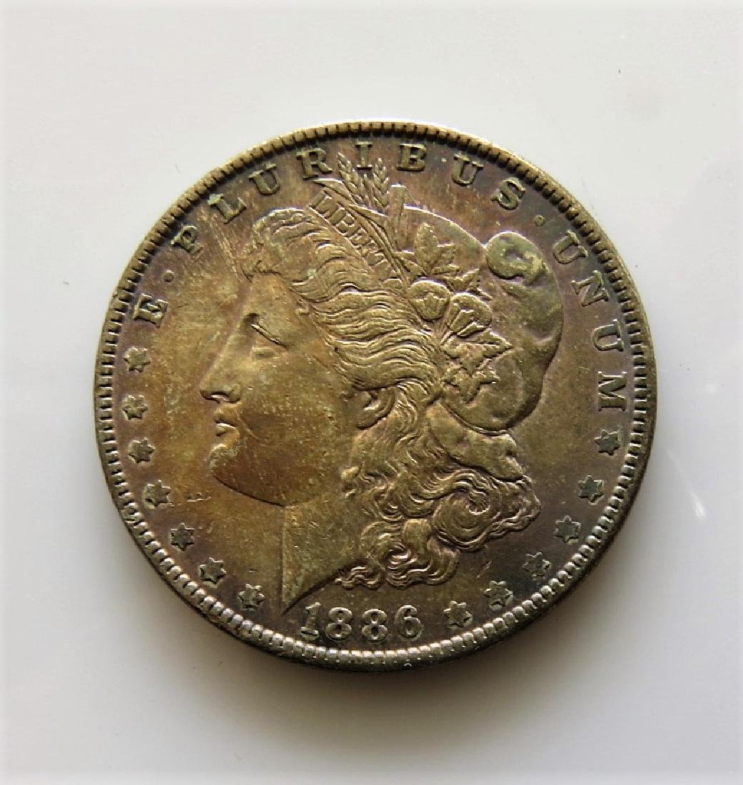 1886 Morgan Dollar with Monster Toning MS63
