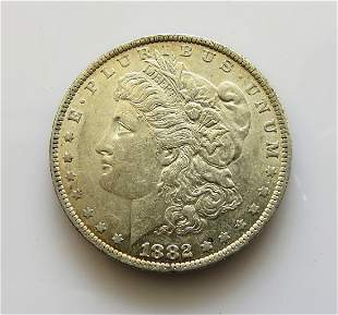 1882 O Choice Uncirculated Morgan Silver Dollar