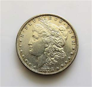 1878 S Morgan Silver Dollar Choice AU