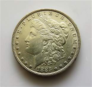 1885P Morgan Dollar Vam1F