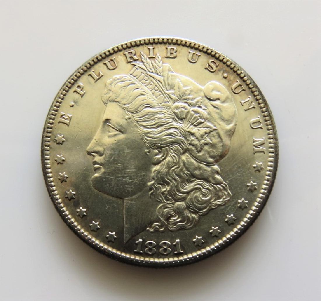 1881 S Morgan Silver Dollar Choice Almost Unc.