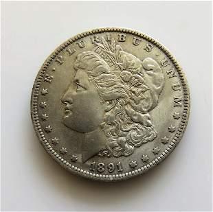 1891 O Morgan Dollar Choice Unc